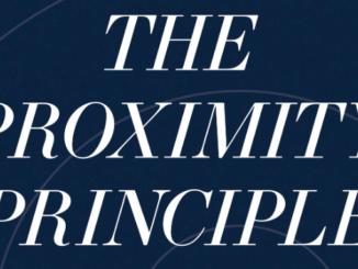 The Proximity Principle Ken Coleman