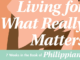 Living for What Really Matters Teresa Swanstrom Anderson
